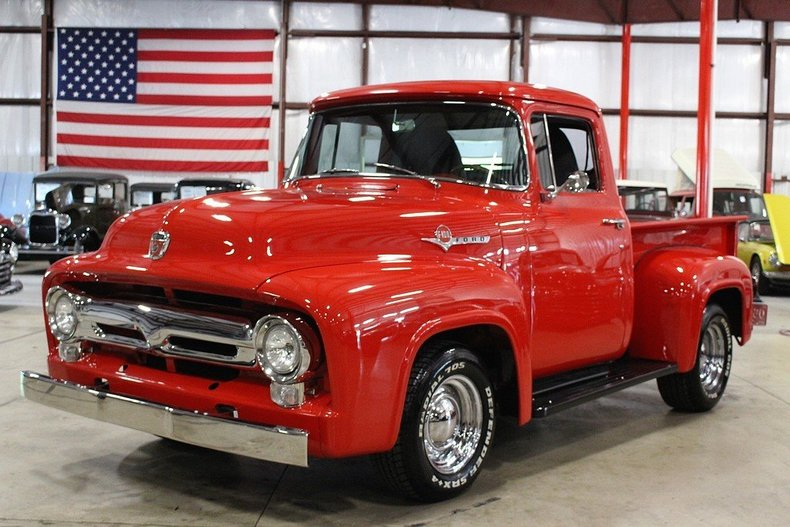 Red 1956 Ford F100 For Sale Mcg Marketplace