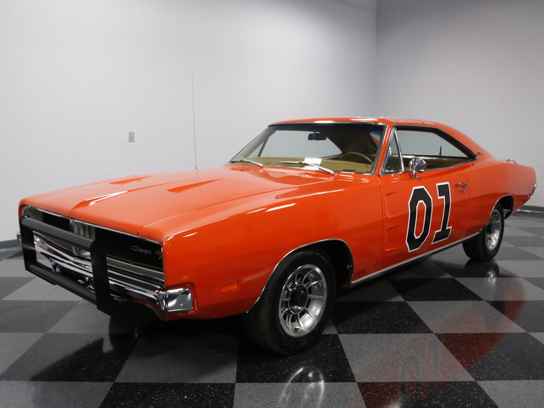 flame red 1969 dodge charger general lee for sale mcg marketplace. Black Bedroom Furniture Sets. Home Design Ideas