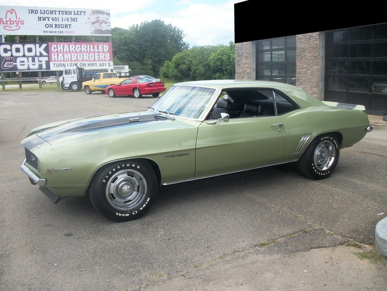 Chevrolet Dealers In Nc >> Frost Green 1969 Chevrolet Camaro Z28 For Sale | MCG