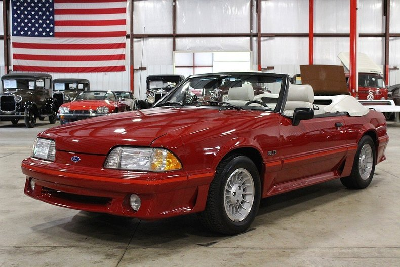 red 1988 ford mustang gt for sale mcg marketplace. Black Bedroom Furniture Sets. Home Design Ideas
