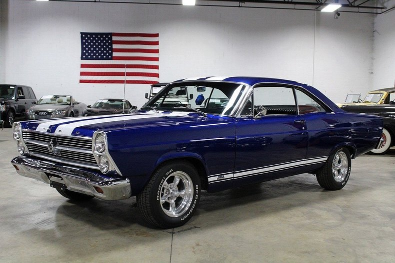 Blue Amp White 1966 Ford Fairlane 500 For Sale Mcg Marketplace