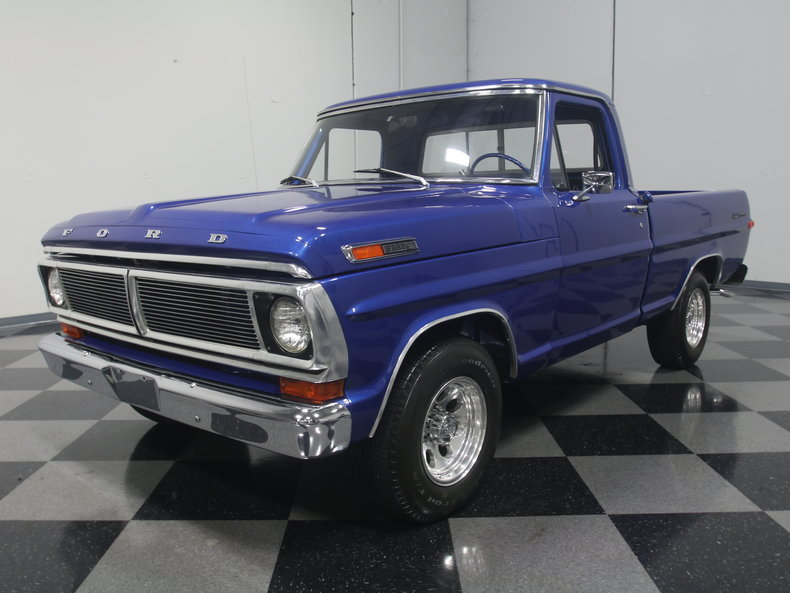 Metallic blue 1970 ford f100 for sale mcg marketplace for Garage ford 62