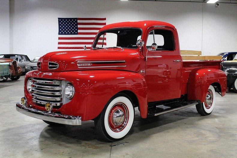 red 1950 ford f1 for sale mcg marketplace. Black Bedroom Furniture Sets. Home Design Ideas