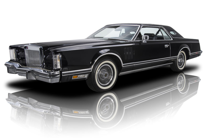 black 1979 lincoln continental mark v for sale mcg marketplace. Black Bedroom Furniture Sets. Home Design Ideas