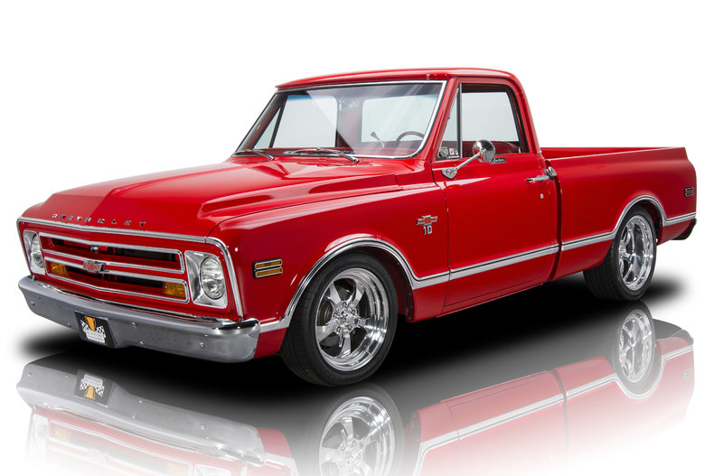 Race red 1968 chevrolet c10 pickup for sale mcg marketplace for Truck motors for sale