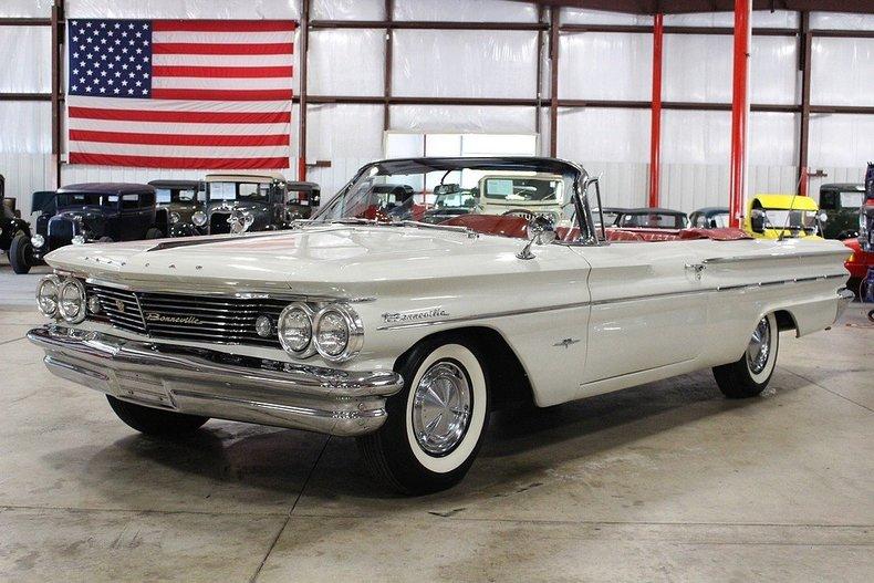 White 1960 pontiac bonneville for sale mcg marketplace for Garage auto bonneville