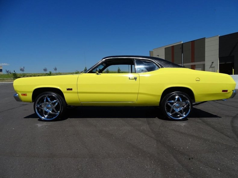 lemon twist 1970 plymouth duster for sale mcg marketplace. Black Bedroom Furniture Sets. Home Design Ideas