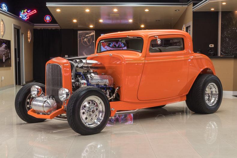 Orange 1932 ford 3 window for sale mcg marketplace for Garage ford orange