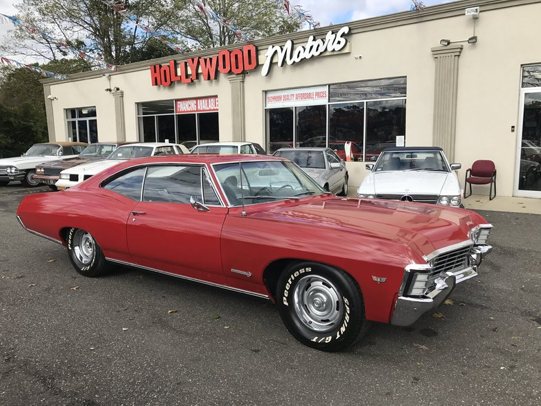 Red 1967 chevrolet impala ss for sale mcg marketplace for Hollywood motors west babylon