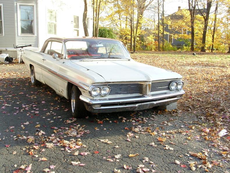 Apollo white 1962 pontiac bonneville for sale mcg for Garage auto bonneville