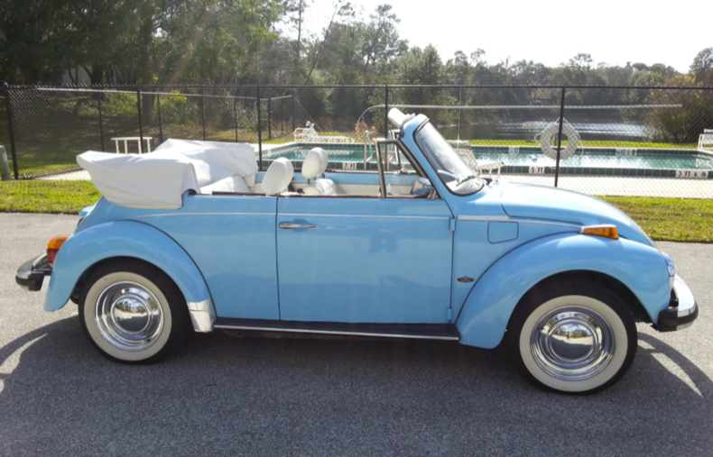 Florida Blue 1979 Volkswagen Super Beetle Convertible For