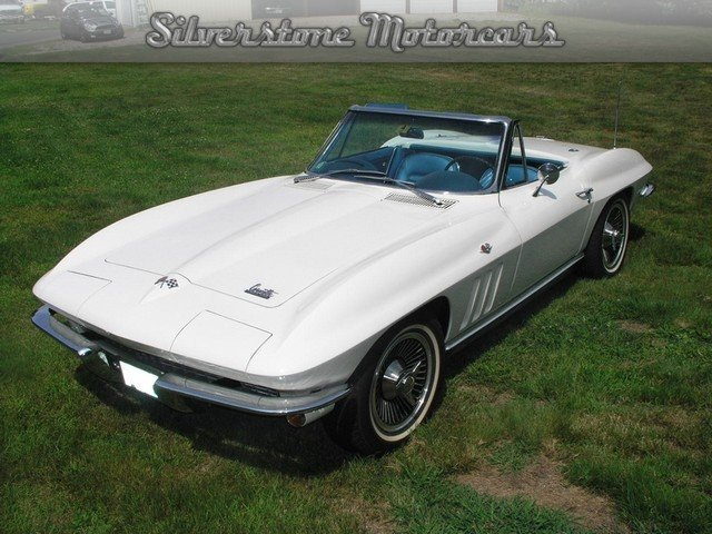 ermine white 1966 chevrolet corvette stingray for sale mcg marketplace. Black Bedroom Furniture Sets. Home Design Ideas