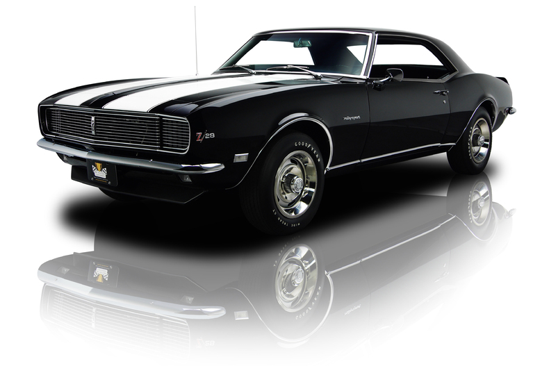 Black 1968 Chevrolet Camaro Z 28 Rs For Sale Mcg Marketplace