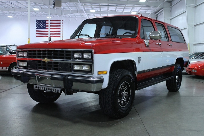 Red 1991 Chevrolet Suburban For Sale Mcg Marketplace