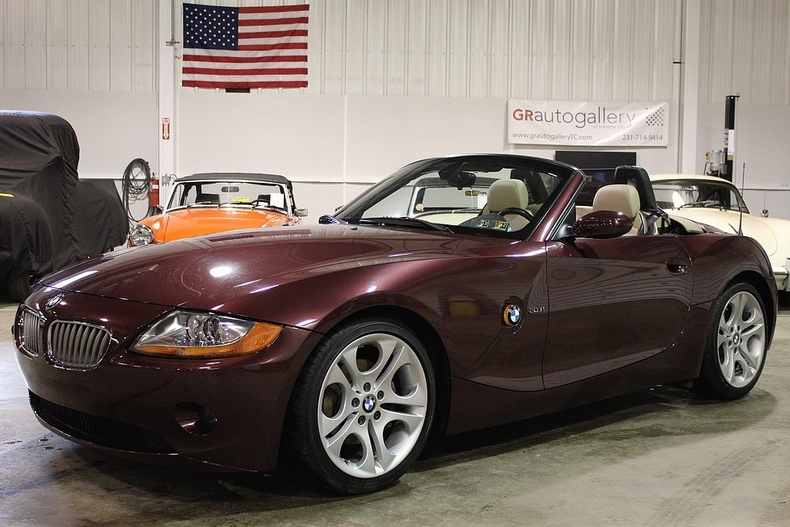 Merlot Red Metallic 2003 Bmw Z4 For Sale Mcg Marketplace