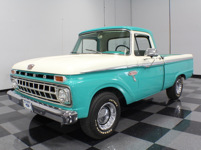 Chevy Dealers In Ga Turquoise 1965 Ford F100 For Sale | MCG Marketplace