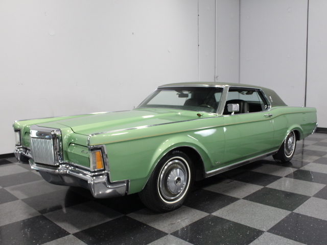 green 1971 lincoln continental mark iii for sale mcg marketplace. Black Bedroom Furniture Sets. Home Design Ideas