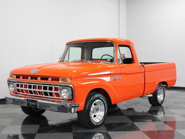 Orange 1965 ford f100 for sale mcg marketplace for Garage ford orange
