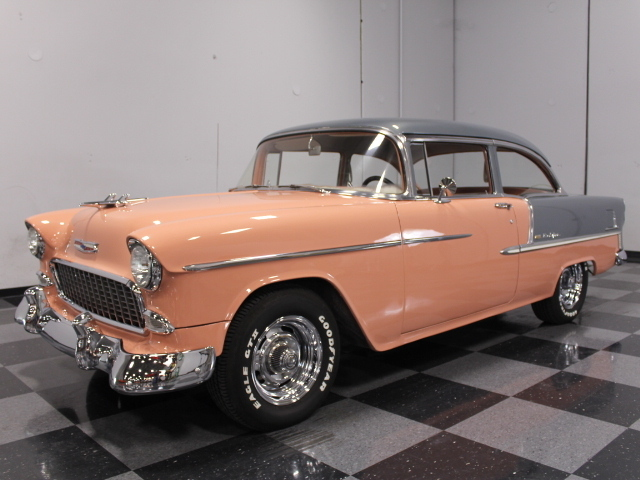 Coral 1955 Chevrolet Bel Air For Sale | MCG Marketplace