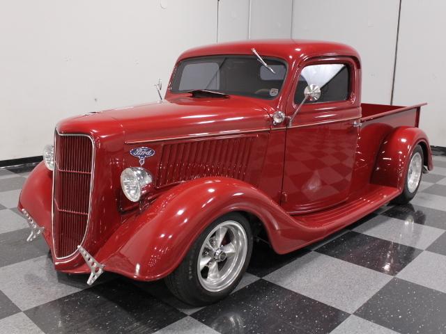 burgundy 1935 ford pickup for sale mcg marketplace. Black Bedroom Furniture Sets. Home Design Ideas