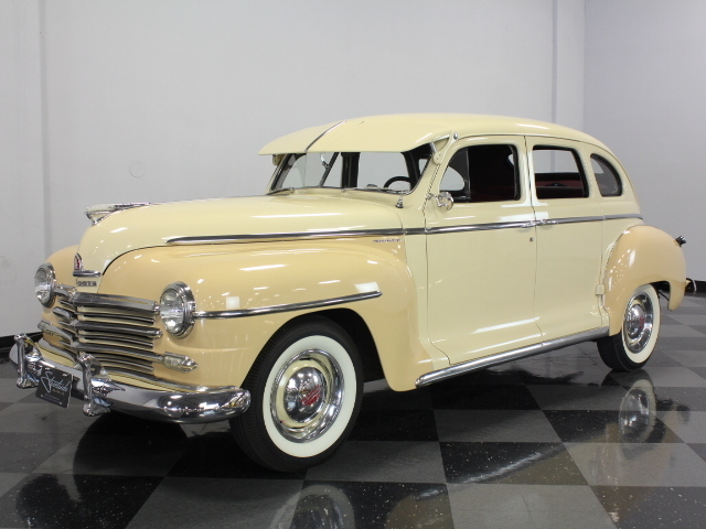 Tan 1947 plymouth special deluxe for sale mcg marketplace for 1947 plymouth 4 door sedan