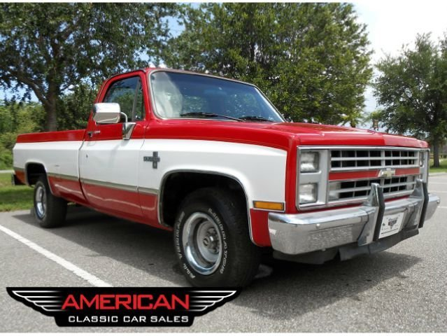 Red White 1986 Chevrolet C10 For Sale Mcg Marketplace