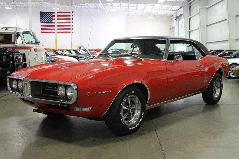 Solar Red 1968 Pontiac Firebird For Sale   MCG Marketplace