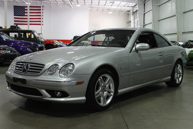 Brilliant silver 2003 mercedes benz cl55 for sale mcg for Mercedes benz cl55 for sale