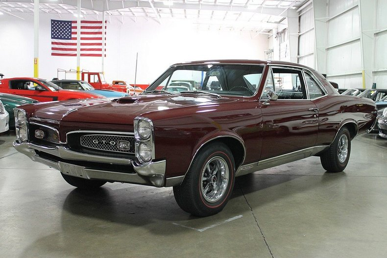 Burgundy 1967 Pontiac Gto For Sale  MCG Marketplace