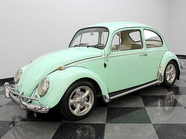 green 1966 volkswagen beetle for sale mcg marketplace. Black Bedroom Furniture Sets. Home Design Ideas