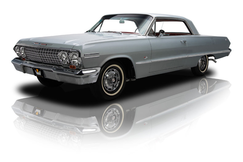 Silver 1963 Chevrolet Impala Ss For Sale Mcg Marketplace