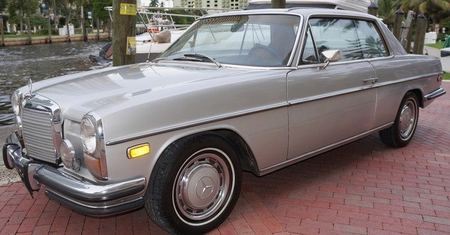 Silver 1973 mercedes benz 280 c for sale mcg marketplace for 1973 mercedes benz 280