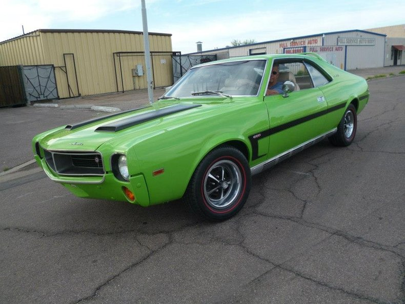 Green go 1969 american motors amx for sale mcg marketplace for American classic motors for sale