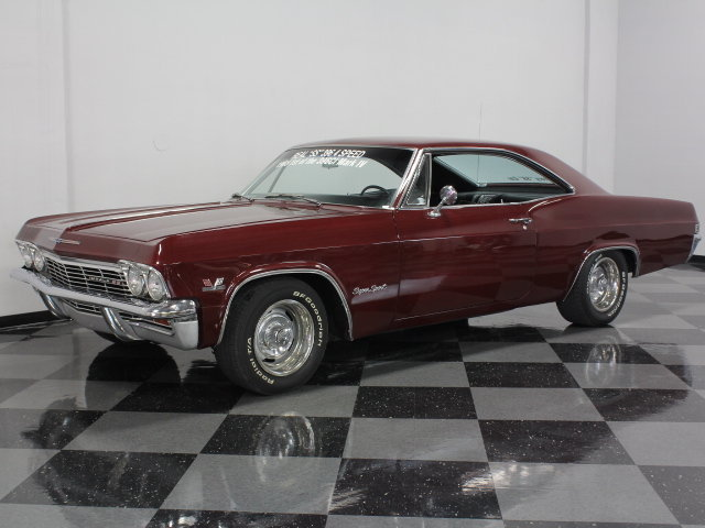 Maroon 1965 Chevrolet Impala Ss For Sale Mcg Marketplace