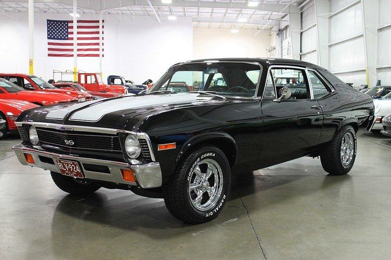Tuxedo Black 1971 Chevrolet Nova Ss For Sale Mcg Marketplace