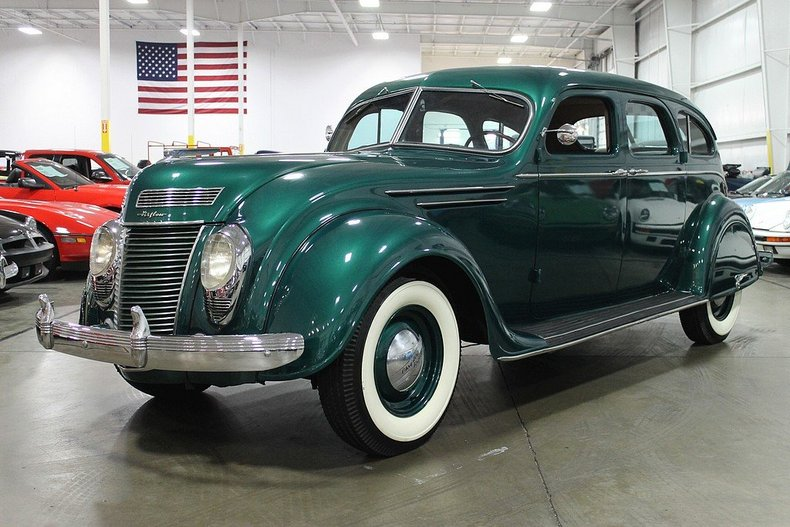 Green Metallic 1937 Chrysler Airflow For Sale Mcg Marketplace