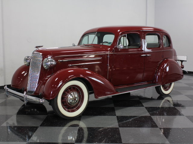 Burgundy 1936 chevrolet master deluxe for sale mcg for 1936 chevy master deluxe 4 door for sale