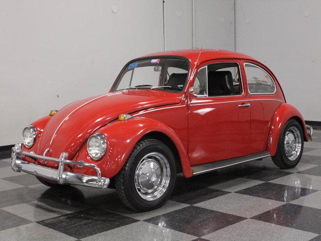 red 1967 volkswagen beetle for sale mcg marketplace. Black Bedroom Furniture Sets. Home Design Ideas