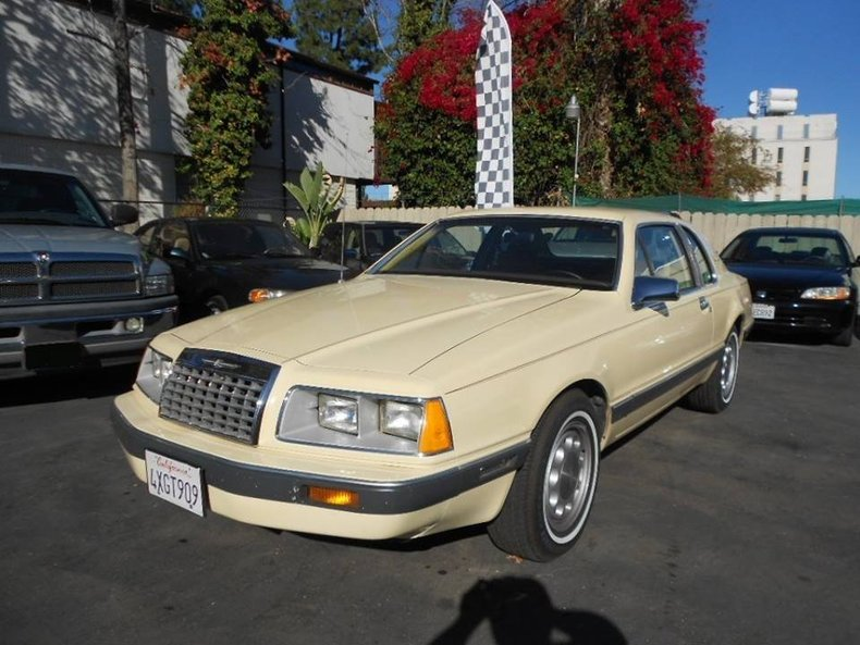 Yellow 1984 Ford Thunderbird For Sale Mcg Marketplace