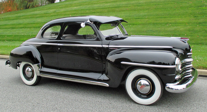 Black 1947 plymouth deluxe for sale mcg marketplace for 1947 plymouth 4 door sedan