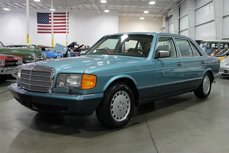 teal 1991 mercedes benz 560 sel for sale mcg marketplace
