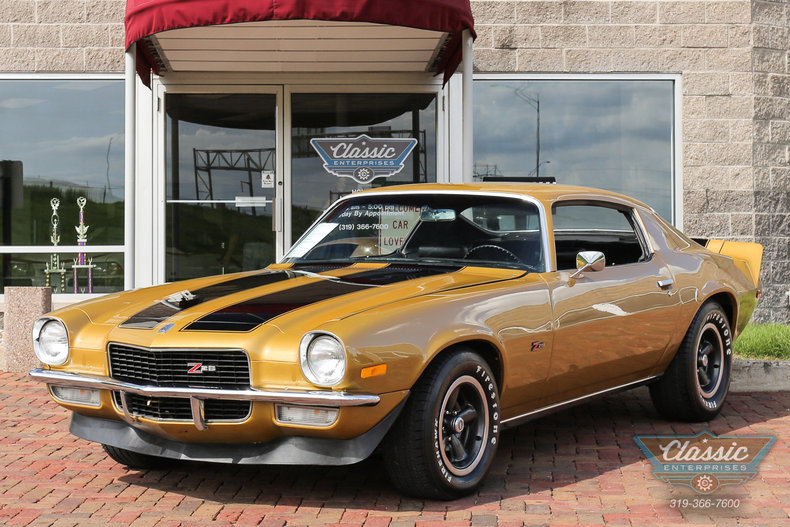 camaro gold 1970 1 2 chevrolet camaro z28 for sale mcg marketplace. Black Bedroom Furniture Sets. Home Design Ideas