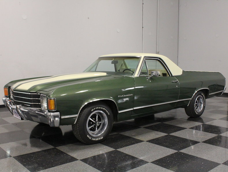 green 1972 chevrolet el camino for sale mcg marketplace. Black Bedroom Furniture Sets. Home Design Ideas