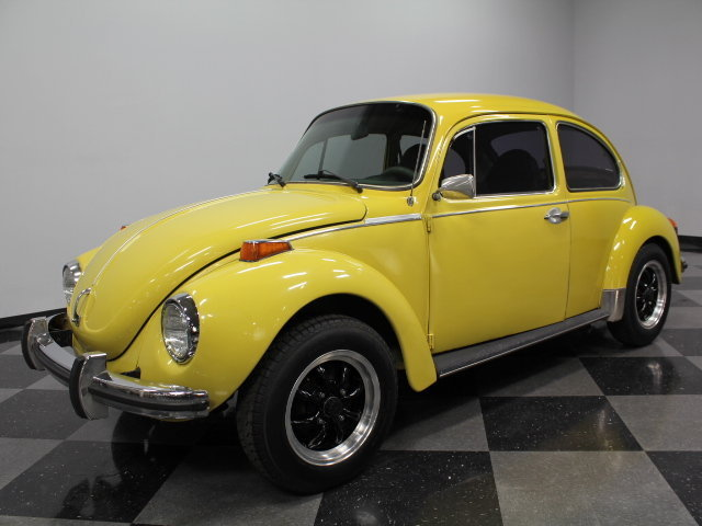 yellow 1973 volkswagen super beetle for sale mcg marketplace. Black Bedroom Furniture Sets. Home Design Ideas