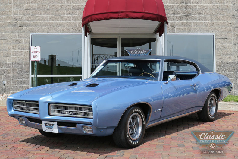 Blue Metallic 1969 Pontiac Gto For Sale Mcg Marketplace