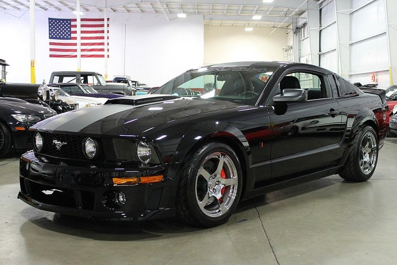 black 2007 ford mustang roush for sale mcg marketplace. Black Bedroom Furniture Sets. Home Design Ideas