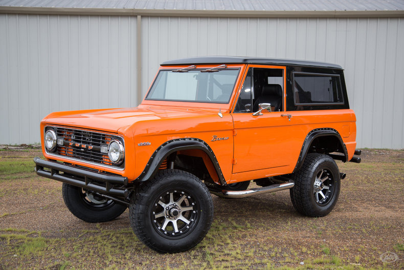 Orange 1967 ford bronco for sale mcg marketplace for Garage ford orange