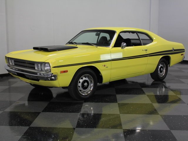 yellow 1972 dodge demon for sale mcg marketplace. Black Bedroom Furniture Sets. Home Design Ideas